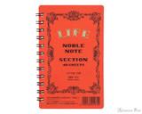 Life Noble Wirebound Notebook - 3 x 5, Graph - Orange