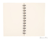 Life Noble Wirebound Notebook - 3 x 5, Blank - Brown - Open