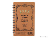 Life Noble Wirebound Notebook - 3 x 5, Blank - Brown