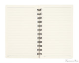 Life Noble Wirebound Notebook - 3 x 5, Lined - Blue - Open