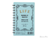 Life Noble Wirebound Notebook - 3 x 5, Lined - Blue