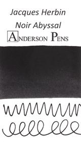 Jacques Herbin Noir Abyssal Ink (50ml Bottle) - Ink Swab