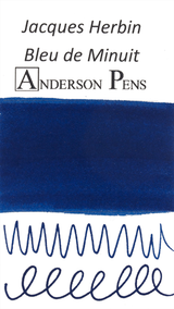 Jacques Herbin Bleu de Minuit Ink (50ml Bottle) - Swab