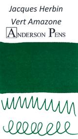 Jacques Herbin Vert Amazone Ink (50ml Bottle) - Swab