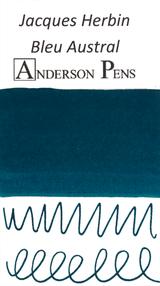Jacques Herbin Bleu Austral Ink (50ml Bottle) - Swab