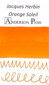 Jacques Herbin Orange Soleil Ink (50ml Bottle) - Swab