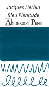 Jacques Herbin Bleu Plenitude Scented Ink (50ml Bottle) - Swab