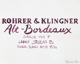 Rohrer & Klingner Alt-Bordeaux Ink (50ml Bottle) - thINK Thursday Art 2