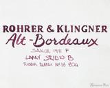 Rohrer & Klingner Alt-Bordeaux Ink (50ml Bottle) - thINK Thursday Art 2