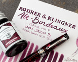 Rohrer & Klingner Alt-Bordeaux Ink (50ml Bottle) - thINK Thursday with Aurora Optima Cap