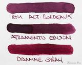 Rohrer & Klingner Alt-Bordeaux Ink (50ml Bottle) - thINK Thursday Color Comparison