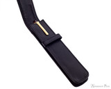 Girologio 1 Pen Case - Black Leather - Open with Pen