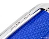 S.T. Dupont Line D Large Fountain Pen - Diamond Guilloche Sapphire with Palladium Trim - Imprint