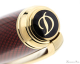 S.T. Dupont Line D Large Fountain Pen - Diamond Guilloche Ruby with Vermeil Trim - Jewel