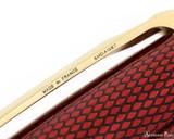 S.T. Dupont Line D Large Fountain Pen - Diamond Guilloche Ruby with Vermeil Trim - Imprint
