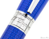 S.T. Dupont Line D Large Rollerball - Diamond Guilloche Sapphire with Palladium Trim - Trimband