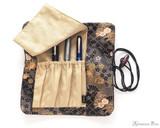Taccia Kimono Pen Roll - 4 Pen, Sakura Night - Inside