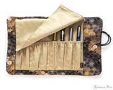 Taccia Kimono Pen Roll - 8 Pen, Sakura Night - Open