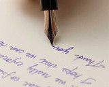 Tomoe River Notepad - A5, Blank - Cream - Writing