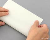 Midori MD Letter Pad - 6.6 x 8.2, Lined - Cream - Easy Fold