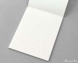 Midori MD Cotton Letter Pad - 6.6 x 8.2, Lined - Cream - Open