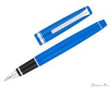 Pilot Falcon Fountain Pen - Blue with Rhodium Trim - Open