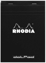 Rhodia No. 18 Staplebound Notepad - A4, Dot Grid - Black