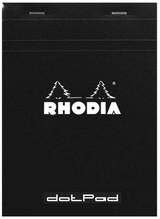 Rhodia No. 18 Staplebound Notepad - A4, Dot Grid - Black