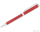 Sheaffer Intensity Ballpoint - Engraved Translucent Red - Profile