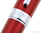 Sheaffer Intensity Rollerball - Engraved Translucent Red - Trimband
