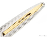 Waterman Deluxe Carene Ballpoint - Black with Gold Trim - Clip