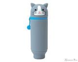 Punilabo Silicone Pen Case - Gray Cat