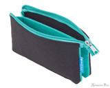 ProFolio Midtown Small Pouch - Black and Wintergreen - Open