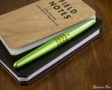 Pilot Metropolitan Fountain Pen - Retro Pop Green - On Notebook