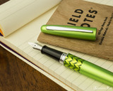 Pilot Metropolitan Fountain Pen - Retro Pop Green - Open on Notebook