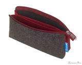 ProFolio Midtown Small Pouch - Charcoal and Maroon - Open