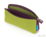 ProFolio Midtown Small Pouch - Green with Purple - Open