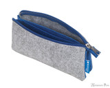 ProFolio Midtown Small Pouch - Gray and Blue - Open
