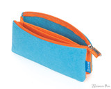 ProFolio Midtown Small Pouch - Ocean and Orange - Empty