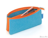 ProFolio Midtown Small Pouch - Ocean and Orange - Full