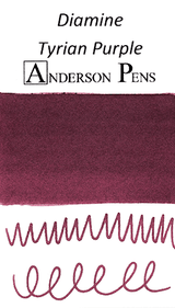 Diamine Tyrian Purple Ink Color Swab