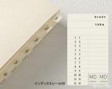 Midori MD Notebook Journal Codex - A5, Dot Grid - Ivory - Tabs