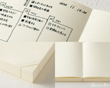 Midori MD Notebook Journal Codex - A5, Dot Grid - Ivory - Detail