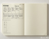 Midori MD Notebook Journal Codex - A5, Dot Grid - Ivory - Open Photo