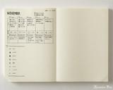 Midori MD Notebook Journal Codex - A5, Dot Grid - Ivory - Open Photo