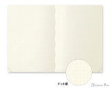 Midori MD Notebook Journal Codex - A5, Dot Grid - Ivory - Open