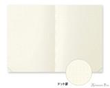 Midori MD Notebook Journal Codex - A5, Dot Grid - Ivory - Open