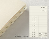 Midori MD Notebook Journal Codex - A5, Blank - Ivory - Tabs
