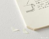 Midori MD Notebook Journal Codex - A5, Blank - Ivory - Corners