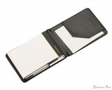 Maruman Mnemosyne HN179UA-05 Notepad and Holder - A7, Blank - Side View